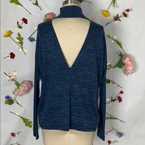 Rag & Bone/Jean high neck open back sweater